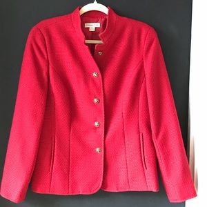 Coldwater Creek red tweed/textured jacket.